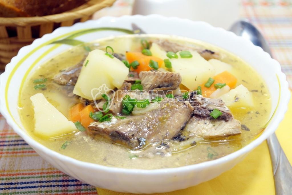Суп с рыбными консервами пошаговый рецепт 25