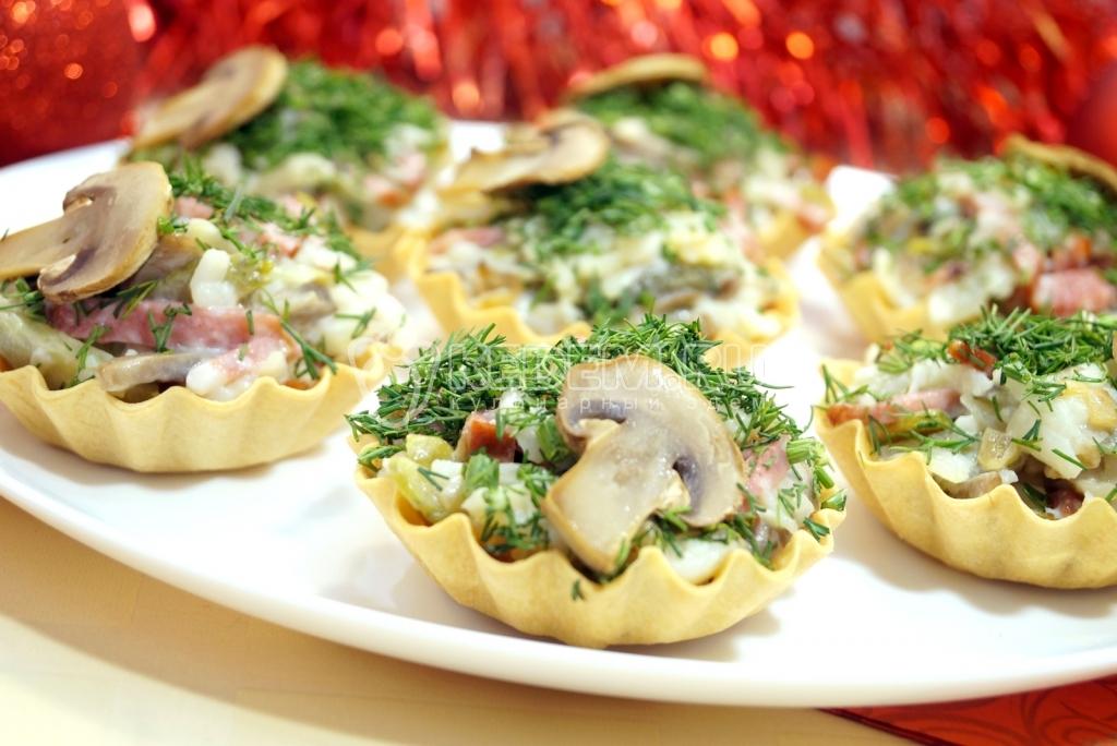 Тарталетки с грибной начинкой на праздничный стол рецепты 76