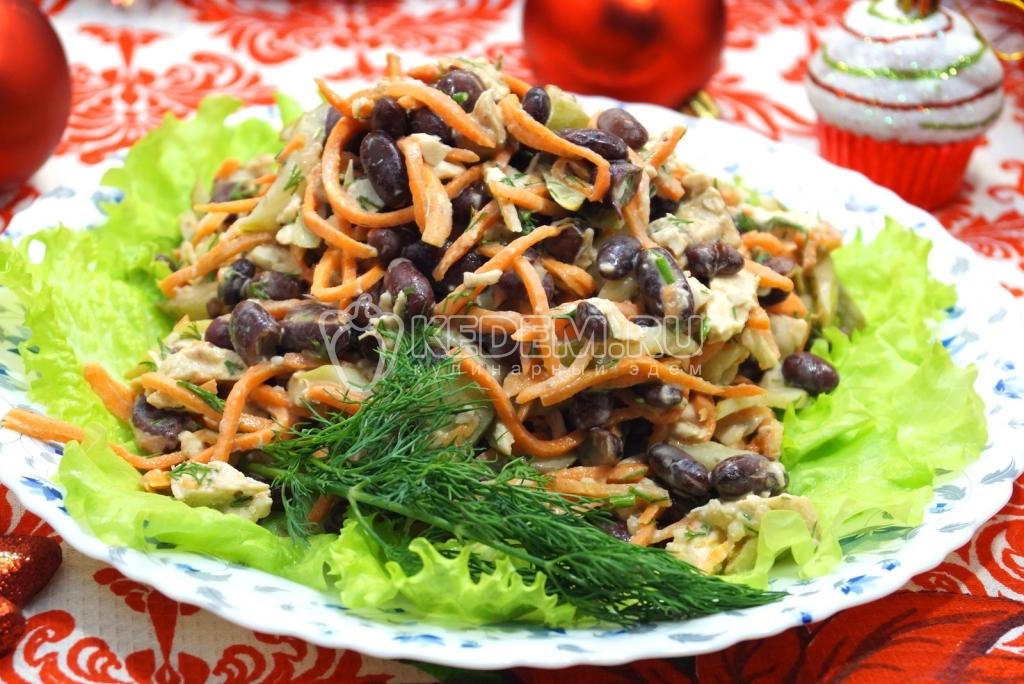 постные рецепты салатов на новый год