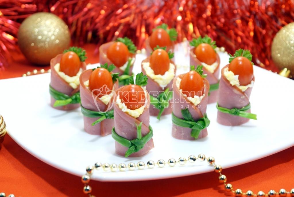 Закуски с помидорами - рецепты с фото 61