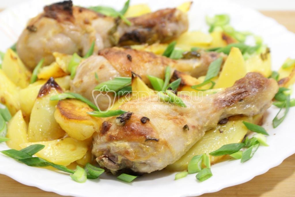Вкусные куриные ножки в духовке в рукаве рецепт с фото на