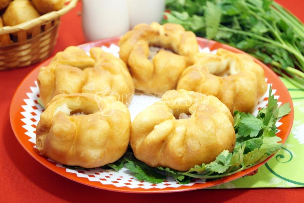 пирожки жареные с картошкой и фаршем