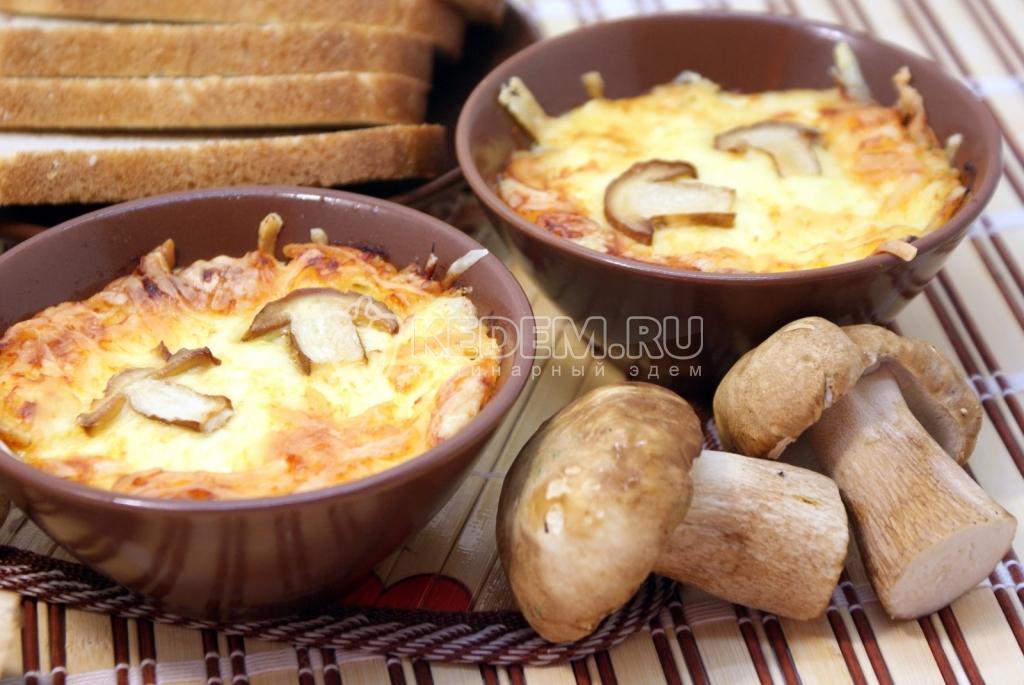 рецепт закуски из белых грибов
