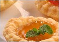 Сырные розетки с абрикосовым джемом