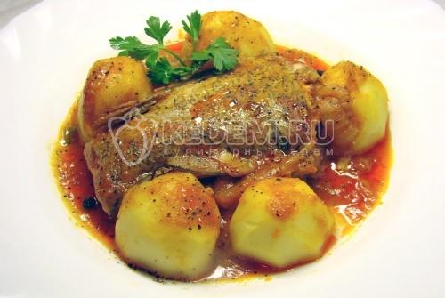 Рецепт Щука в томатах с картофелем