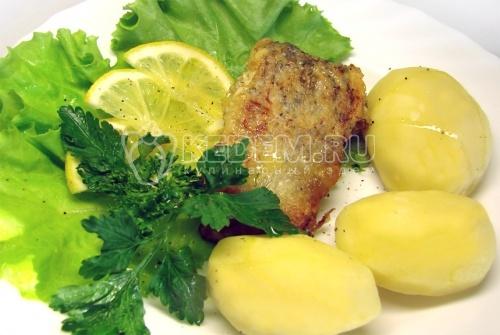 Рецепт Щука жаренная с отварным картофелем