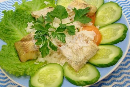 Рецепт Минтай с овощами