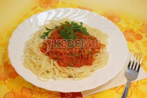 Рецепт Спагетти с острым соусом