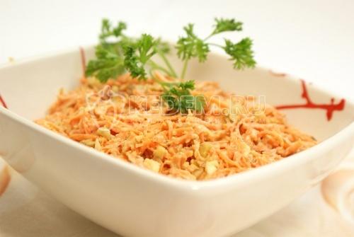 Рецепт Салат с морковью и грецкими орехами