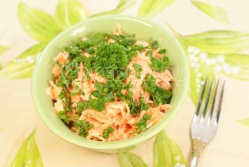Рецепт Морковный салат с хреном