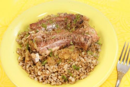 Жаренные свиные ребрышки - рецепт