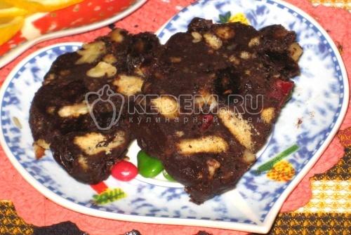 Торт шоколадная колбаска