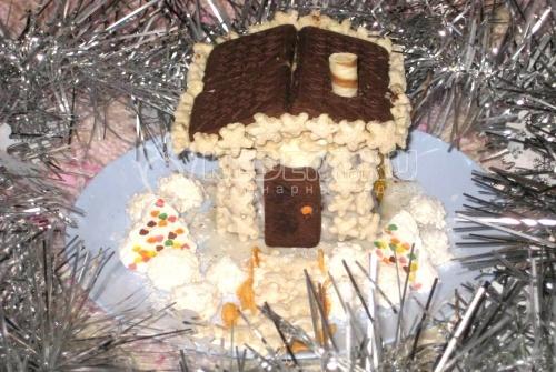 Торт «Сказочный домик» - Кулинарный рецепт приготовления сказочного торта-домика.