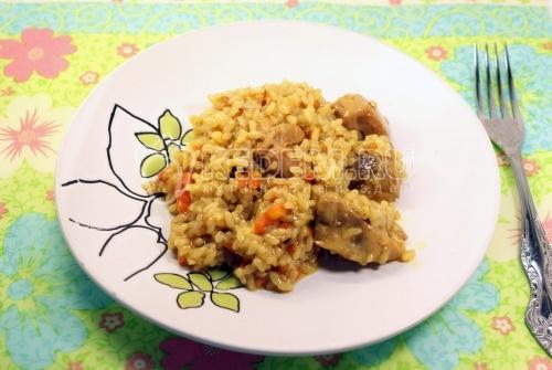 Рецепт Каша рисовая с мясом