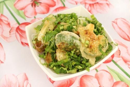 Рецепт Брокколи в сливочном кляре с зеленым чесноком