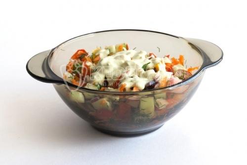 Рецепт Салат «Овощная палитра»