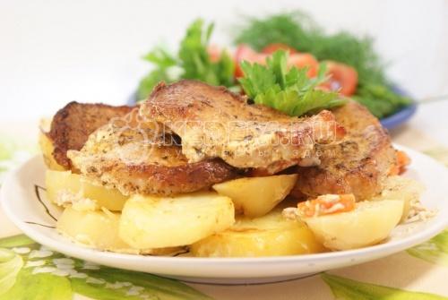 Рецепт Мясные медальоны «Обед для мужа»