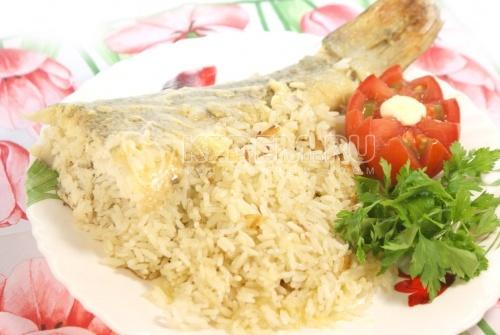 Рецепт Судак запеченный с рисом в фольге