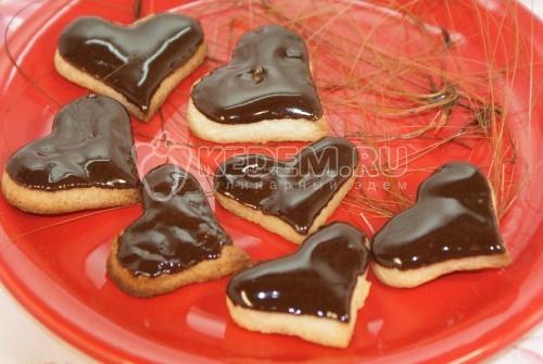 Печенье Сердце в глазури