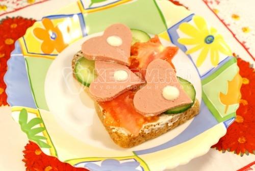Рецепт Бутерброд «Вкусный перекус»