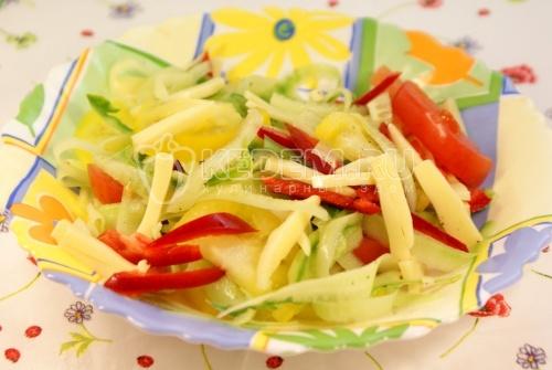 Китайский овощной салат. Кулинарный рецепт салата из овощей по китайски.
