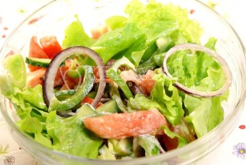 Рецепт Салат «Овощной» с заправкой из уксуса и майонеза