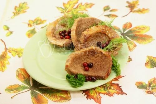 Рецепт Телятина с брусникой и зеленью
