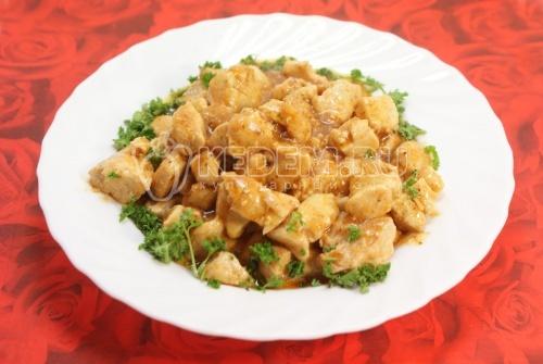 Рецепт Курица в пиве с карри