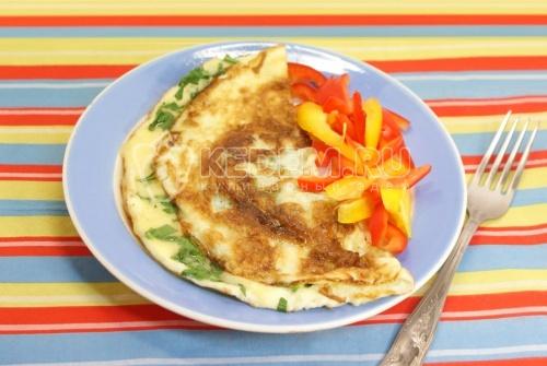 Рецепт Завтрак «Омлет-конверт»