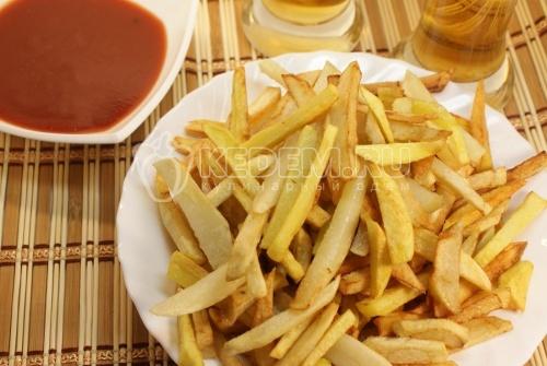 Рецепт Закуска к пиву «Золотистый картофель»