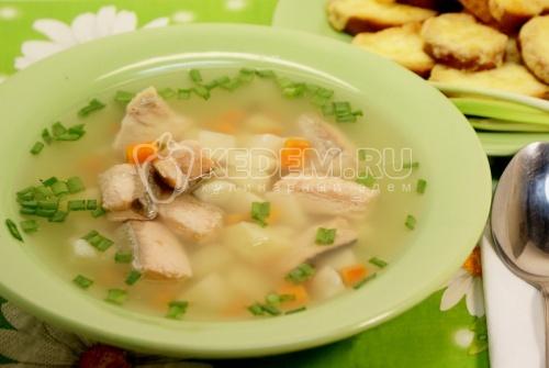 Рецепт Рыбный суп с сырными тостами