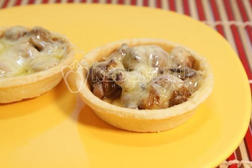 Рецепт Тарталетки с грибами и сыром