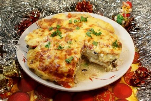 Новогоднее горячее «ассорти». Кулинарный рецепт приготовления новогоднего горячего из мяса, картофеля и баклажан.