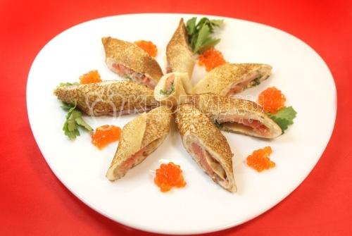 Рецепт Блины с лососем