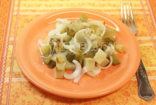 Рецепт Салат с печеным картофелем