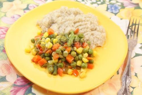 Рецепт Ячневая каша с овощами
