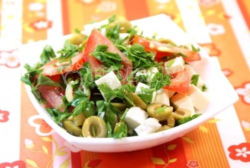 простые салаты с маслинами рецепты с фото