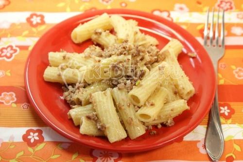 Макароны «Балтийский флот». Кулинарный фото рецепт приготовления макарон с мясом.