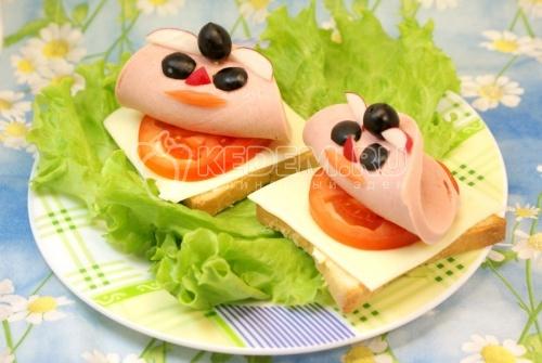 Рецепт Бутерброды «Кораблики»