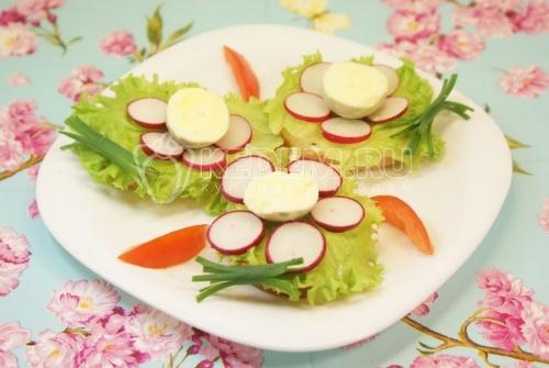 Рецепт Бутерброды «Цветочки»