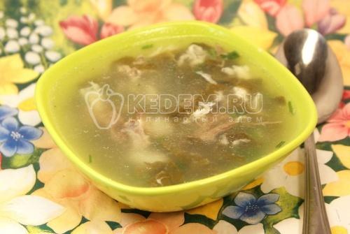 Суп со щавелем и яйцом