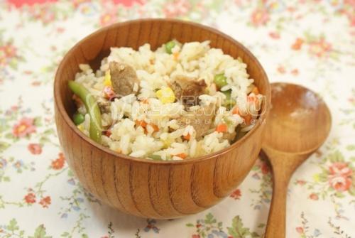Рецепт Рис с мясом «Конфетти»