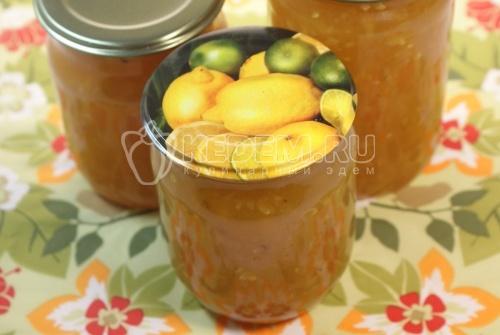 Рецепт Кабачковое варенье с лимоном