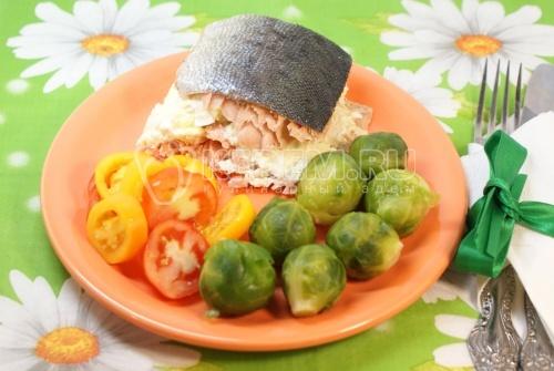 Слоёная рыбка. Кулинарный рецепт приготовления горбуши в духовке.