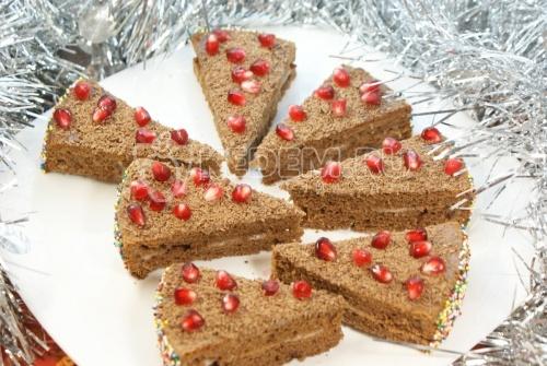 Рецепт Шоколадные пирожные «Лакомка»