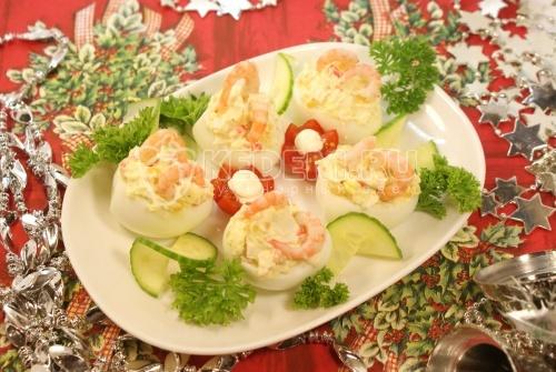 Рецепт Закуска «Фаршированные яйца»