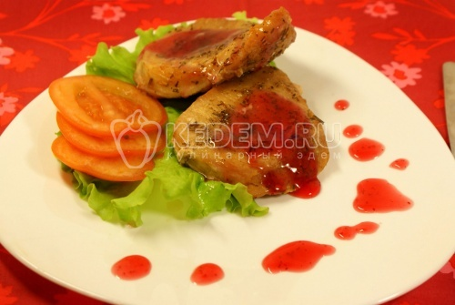 Рецепт Мясо с брусничным соусом «Трепет желаний»