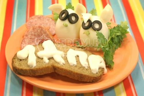 Рецепт Зайцы или завтрак дурака
