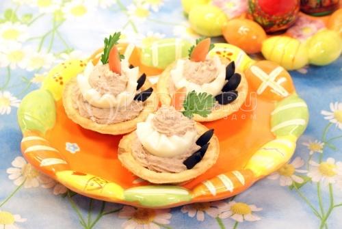 Рецепт Тарталетки «Яичные тортики»