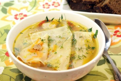 Рецепт Суп-лапша домашняя «Мясная»